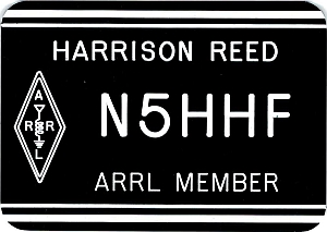 ARRL Member Name Badge - Engraved