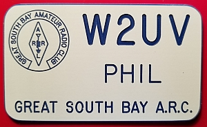 Great South Bay Amateur Radio Club Name Badge