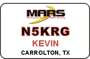 Metrocrest Amateur Radio Society Name Badge