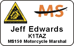 MS150 Motorcycle Marshal Name Badge