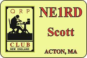 New England QRP Club Badge