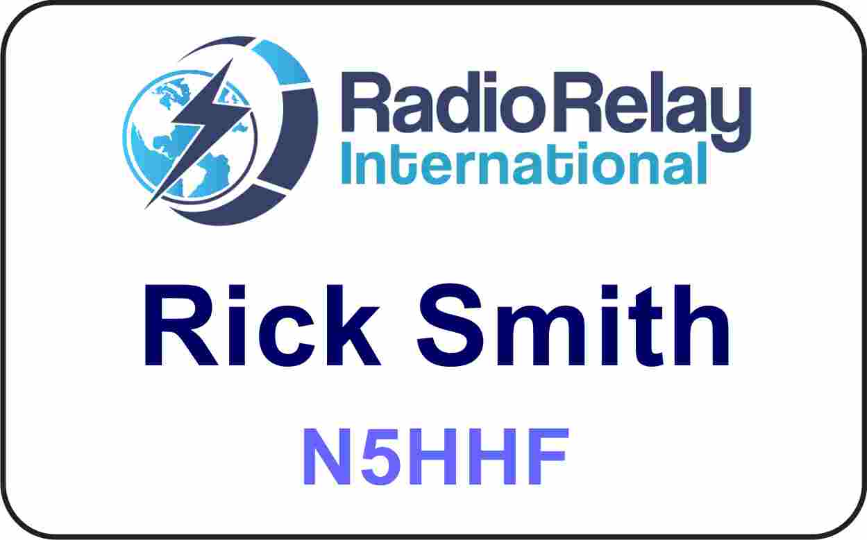 Radio Relay International Name Badge