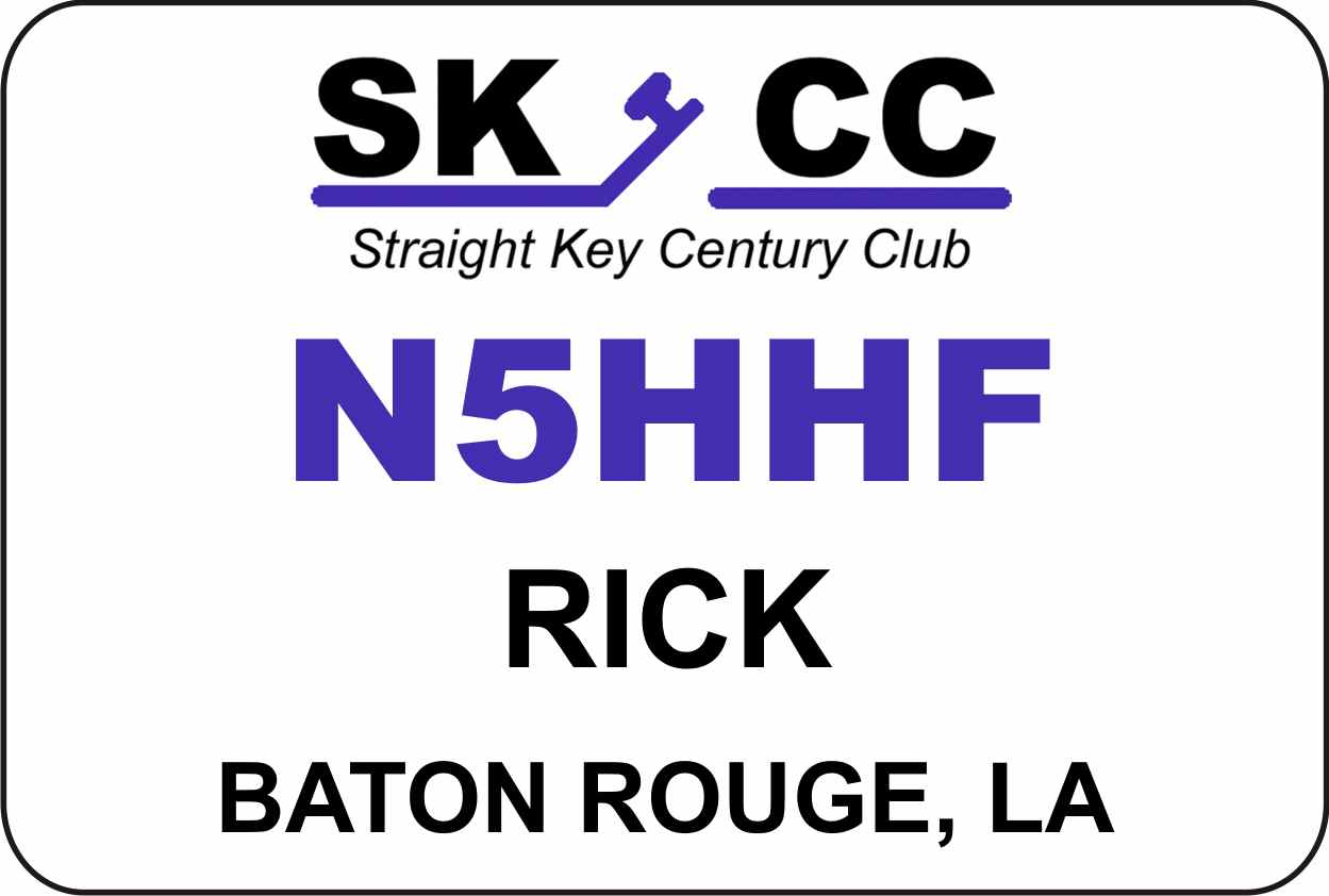 Straight Key Century Club Name Badge