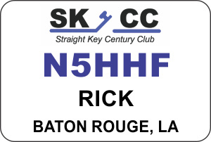 Straight Key Century Club Club Name Badge