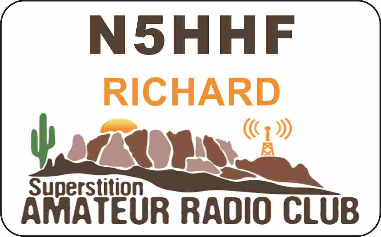 Superstition Amateur Radio Club Name Badge
