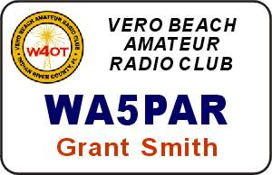 Vero Beach Amateur Radio Club Name Badge